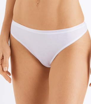 String Thong Cotton Sensation Hanro (HAse071402)