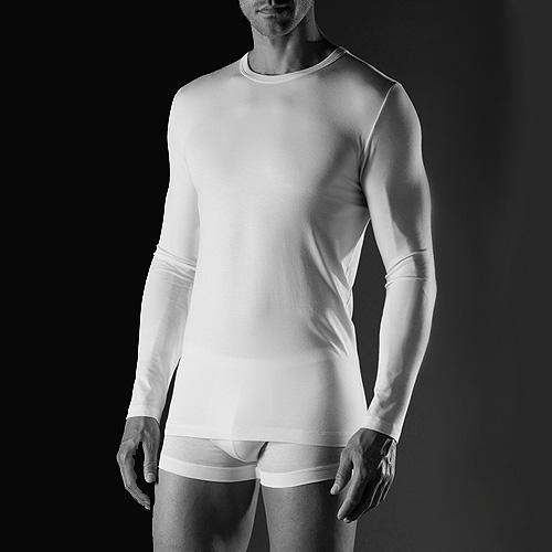 f1dac80f95bfff ADRETO - Langarm Shirt Pureness Zimmerli (ZIpu7001350s)