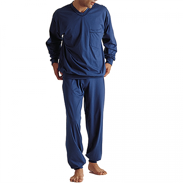 Pyjama long VN Borde  Night and Home ISAbodywear(ISAnh506)